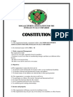 Msa Constitution for Npo
