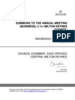 Milton Keynes Council Agenda 22nd May 2013