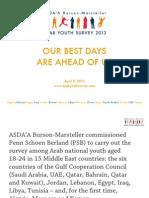 Arab Youth Survey 2013 by Penn Schoen Berland