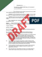6-Apr-2009 Version of Draft Animal Control Ordinance 2009