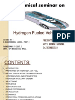 Hydrogen Fueled Vehicle