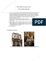 Stilul arhitectural Baroc Si Rococo