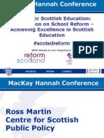 Education Reform Presentations