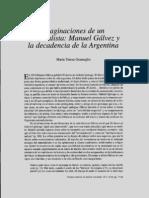 Gramuglio, María Teresa - Manuel Gálvez y la decadencia del nacionalismo Prismas 4 5