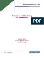 VHDL / Verilo / SystemVerilog Differences