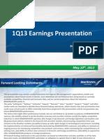 1Q13 Earnings Presentation