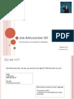 Job Apps 101 - Pakistan