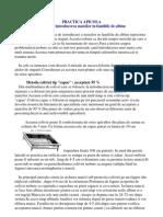 PRACTICA APICOLA-Introducerea Matcilor
