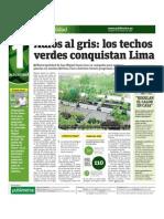 Adiós al gris, los techos verdes conquistan Lima