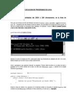 Ejecución de programas Java