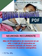 Definicion y causas de Neumonia Recurrente en Pediatria
