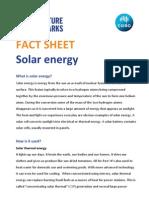 Solar Energy Fact Sheet
