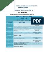 Programa Definitivo Jornadas Rehabilitacion Deportiva Mayo 2009