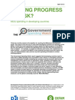 Putting Progress at Risk? MDG spending in developing countries