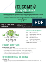 Church Bulletin for May 10 & 12, 2013