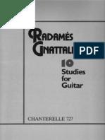 Gnattali Radames 10 Studies for the Guitar