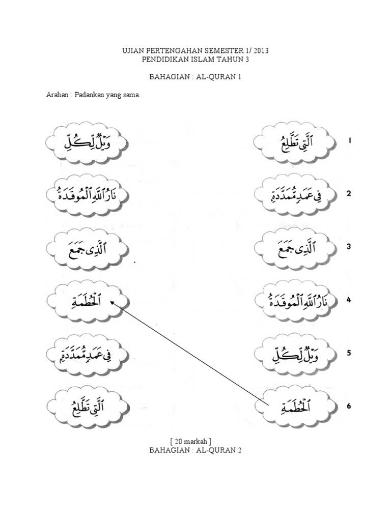 Kertas Soalan Pendidikan Islam Tahun 3