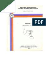 Inventaire Des Ressources Minières de la République D'Haïti (Nord)