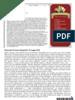 """Alessandra Farinola, su Mangialibri (10/5/2013) recensisce """"La verità"""" di Roberta Pilar Jarussi"""