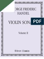 Handel - Sonatas 4-6 Para Violin y Piano - Vol.2 (Partes)