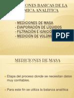 Mediciones de Masa