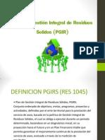 Plan  de Gestión Integral de Residuos Solidos (