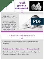 Gyenocology Seminar About Fetal Growth Assessmnet (3)