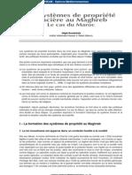 les systèmes de propriété foncière au maroc