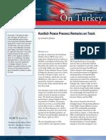 Kurdish Peace Process Remains on Track