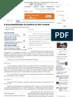A (in)compatibilidade da tentativa no dolo eventual - Revista Jus Navigandi - Doutrina e Peças