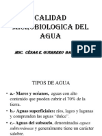Calidad Microbiologica Del Agua-clase 2012