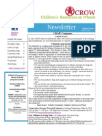 CROW May 2013 Newsletter