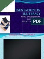 Presentation on Illiteracy
