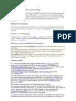 Basic Notes Phonetics and Phonology