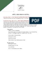 Sarabande April Events
