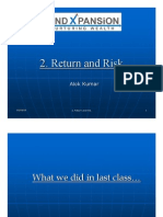2. Risk and Return