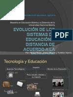 Anexo 1) Evolución de los Sistemas de Educación a Distancia de acuerdo a la Mediación