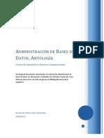 Antología de Textos para la Asignatura de Administración de Base de Datos v1