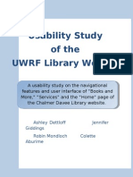 final library usability report