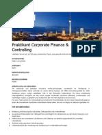 Praktikant Corporate Finance & Controlling
