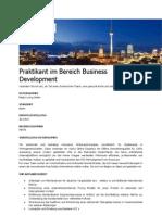 Praktikant Im Bereich Business Development