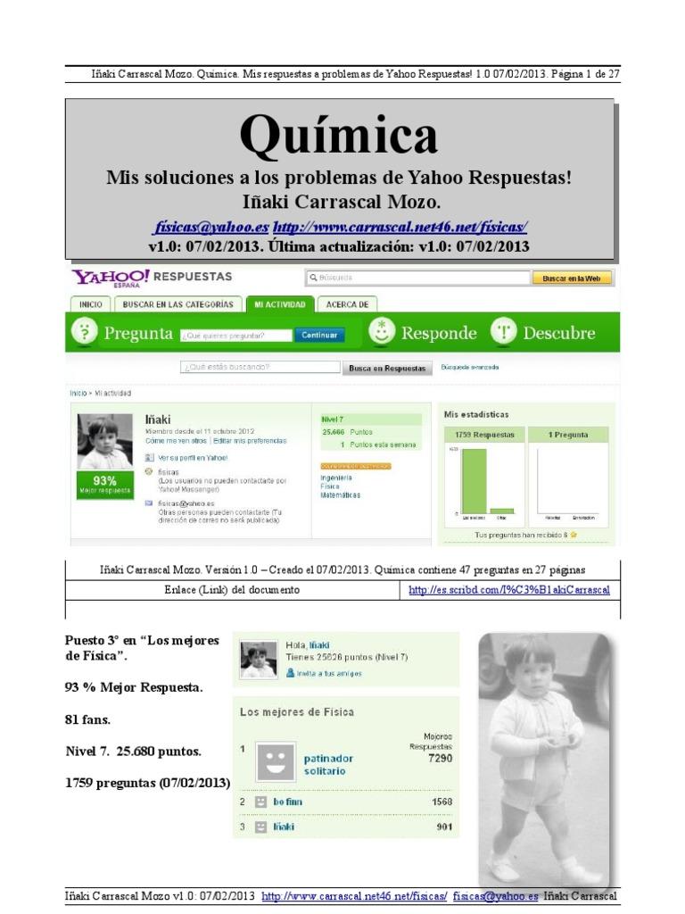 Qumica by carrascal mis respuestas a problemas de yahoo respuestas urtaz Images