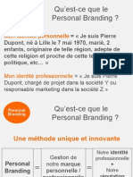 Personal Branding - Définition Personal Branding