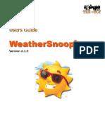 WeatherSnoop Users Guide