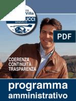 """PROGRAMMA ELETTORALE """"Lista Civica ViviAmo Villa"""" - Bartolucci sindaco"""