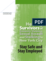 Helping Survivors of Domestic Violence, Sexual Assault and Stalking in New York City