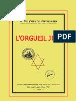 De Vries de Heekelingen Herman - L'Orgueil Juif