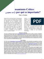 UNICA - Pensamiento Critico Facione