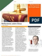 Reflexiones Actitudinales sobre Ética N°1
