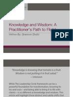 Leadership - Knowledge and Wisdom